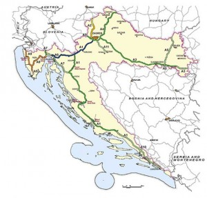 Truckers On The Croatian Coast Highway